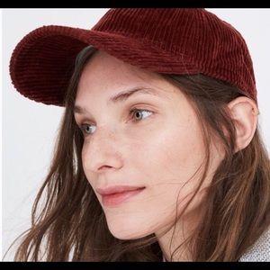 Madewell brown-ish corduroy baseball cap!